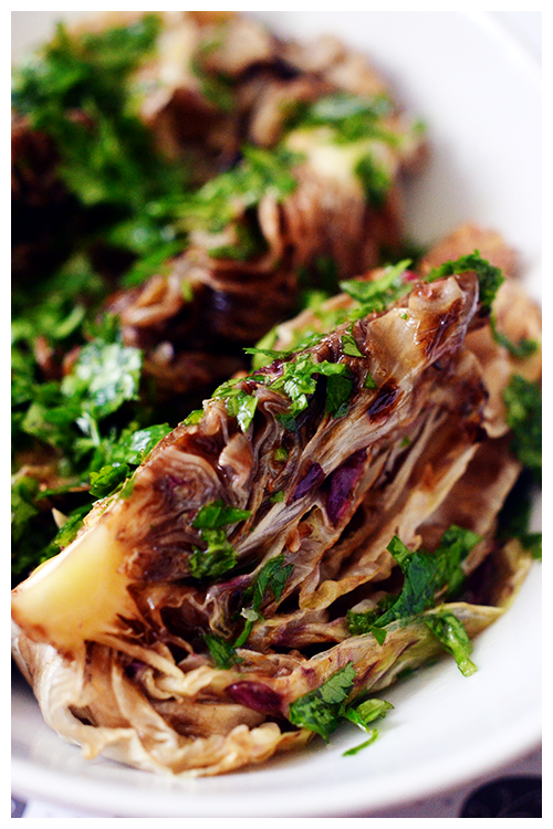 Grilled Castelfranco Radicchio with lemon herb dressing© by Haalo