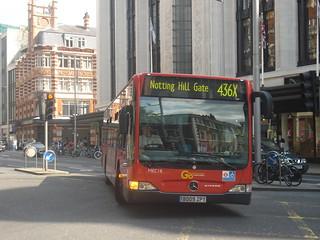 London General MEC18 on Route 436X, High Street Kensington