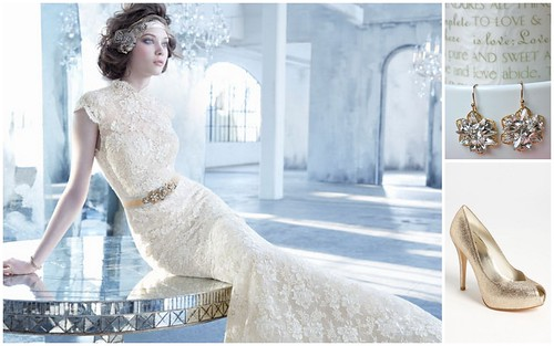 {Lace + Gold} Bridal Style by Nina Renee Designs
