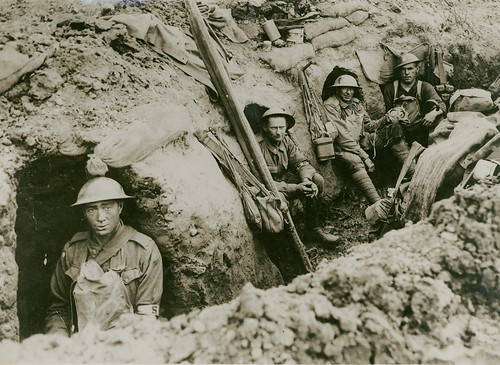 Men in the trenches