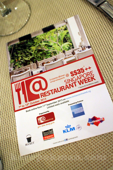 Restaurant Week - 7th Edition - 7 to 13 October 2013