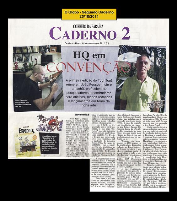 HQ em Convenção - Correio da Paraiba - 01/12/2012