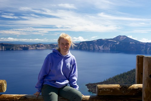 Zippy (age 13) at Crater Lake