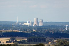 industry, skyline, tower, power station, nuclear power plant,