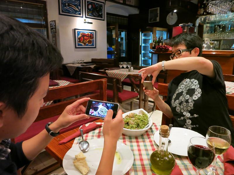 Food paparazzi.