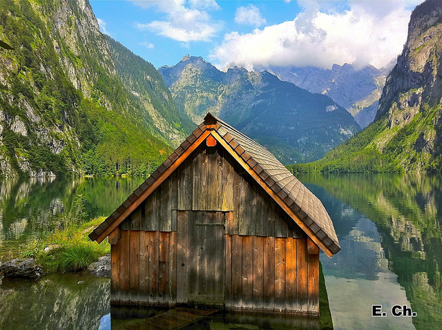 The little boathouse on Obersee