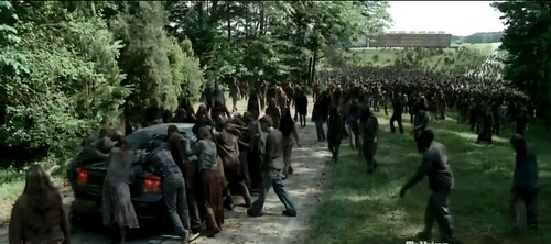 TWD S4 E3_Large Walker Herd