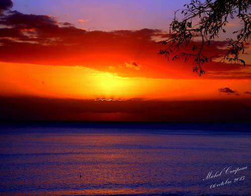 Couché de soleil sur l'océan Indien