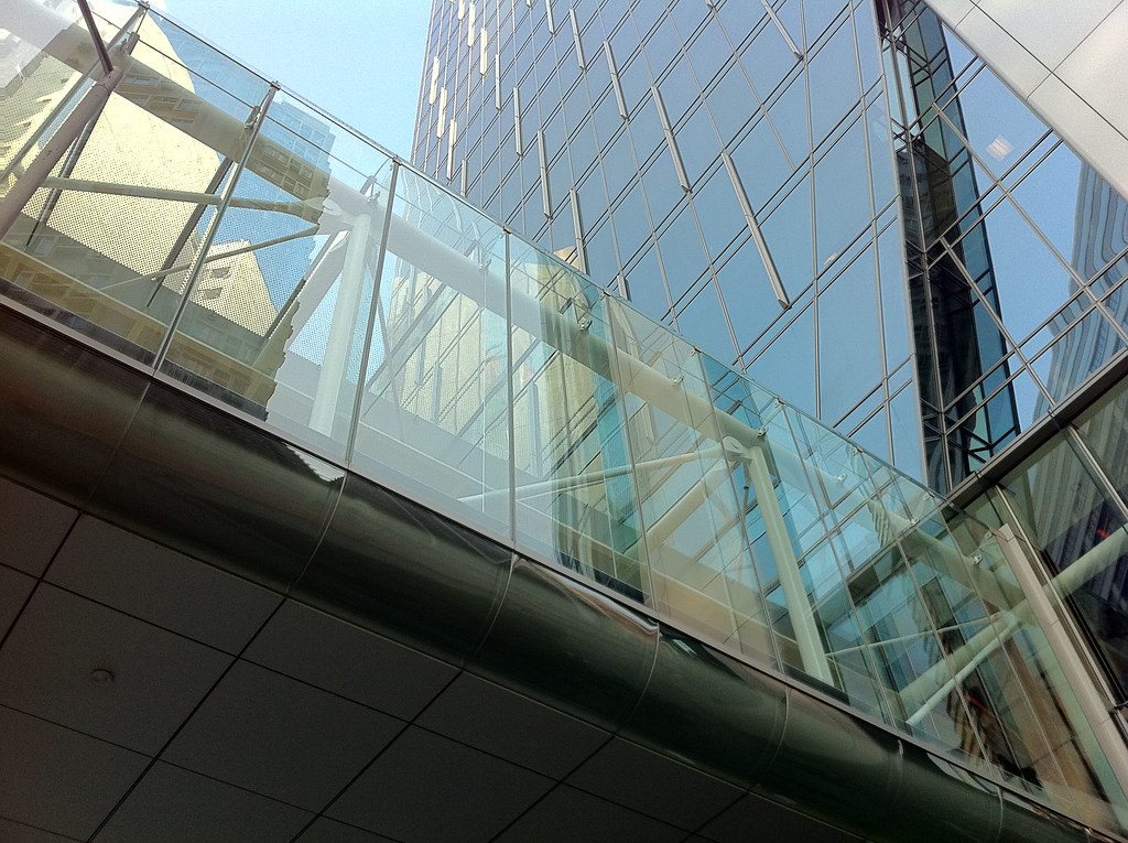 Low-angle shot (footbridge)