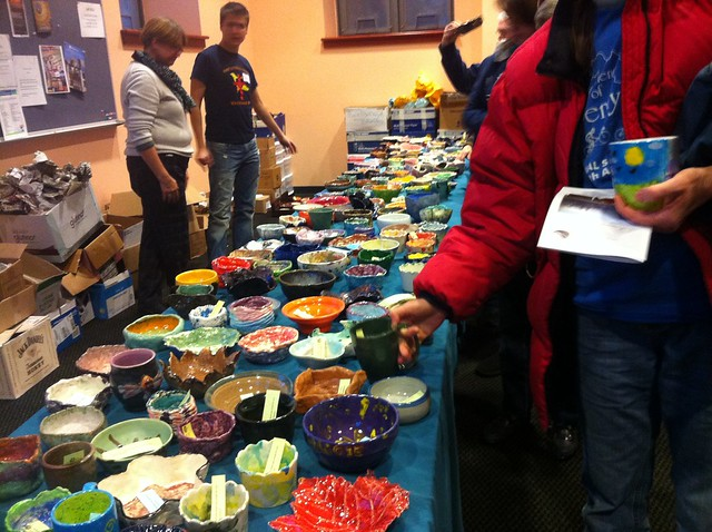 Diners get to pick out a hand made bowl
