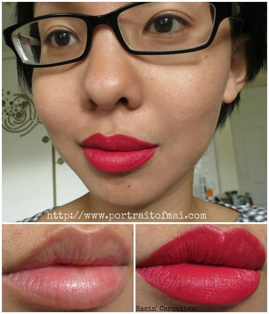 limnit lipsticks Racin' Carnation collage
