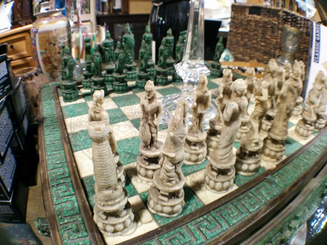 Wideangle shot of a chess board