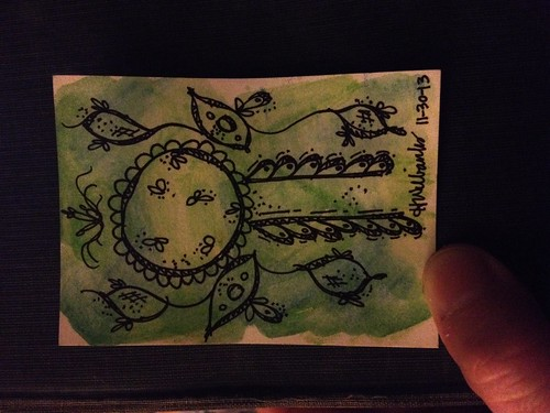 Green leaves ATC by Artsy Hope