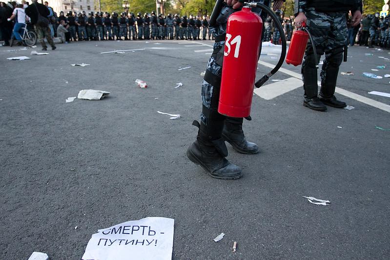 Разгон мирной демонстрации 6 мая 2012 года. Болотное дело