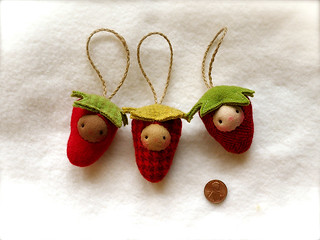 Berry Ornament set #1