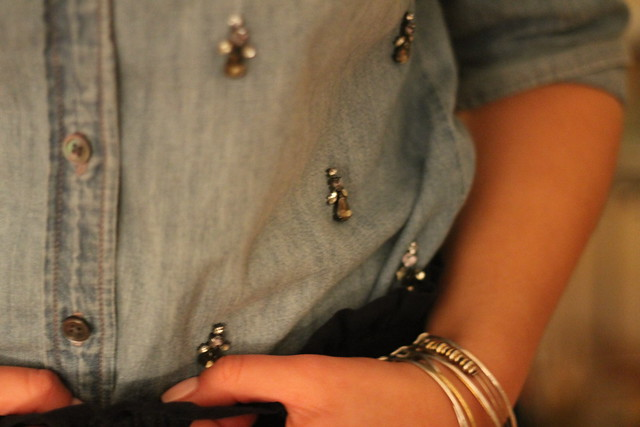 Embellished Chambray detail