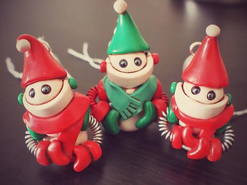 Last three Snowbots of 2014 by HerArtSheLoves