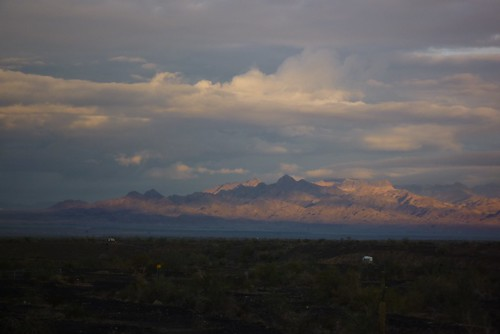 Sonoran Desert, I-5 Arizona, early morning