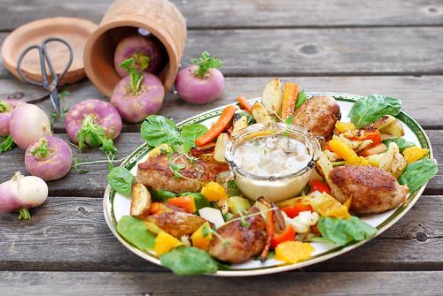 Matvete otto med gorgonzola