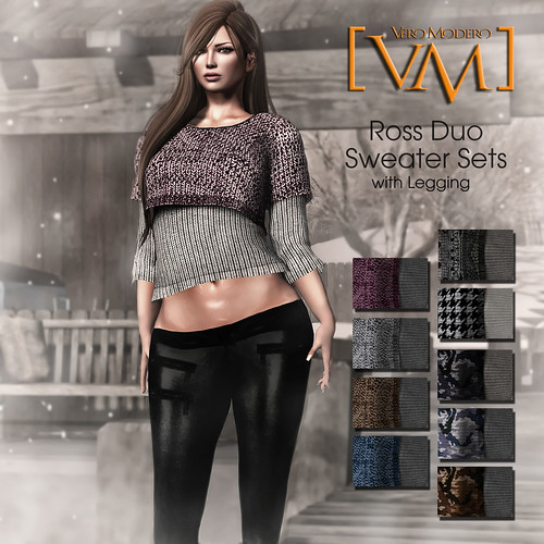 [VM] VERO MODERO  Ross Duo Sweater Sets All Pattern