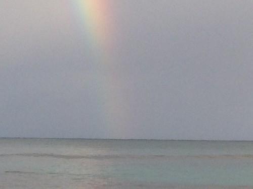 sunrise rainbow sand dominicanrepublic shore lasterrenas semanapeninsula