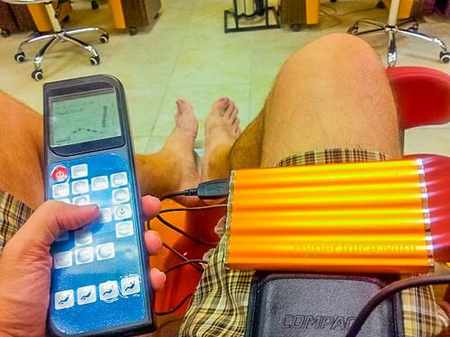 Mani-Pedi with my #CondoSeniors: Chair Remote