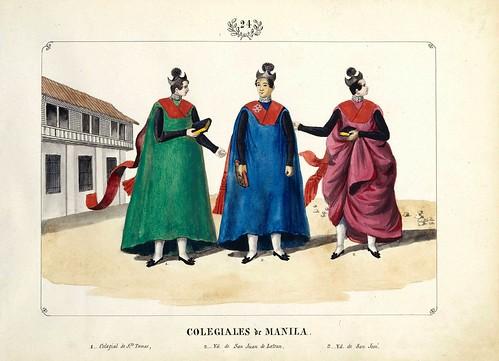 005-COLEGIALES de MANILA-Vistas de las Yslas Filipinas y Trages…1847-J.H. Lozano- Biblioteca Digital Hispánica
