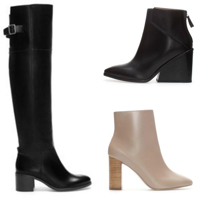 botas negras zara