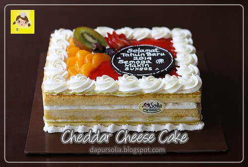 Decorated Cheddar Cheese Cake