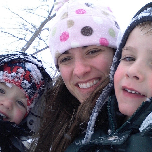 Fun in the snow with 2 of my favorite boys.