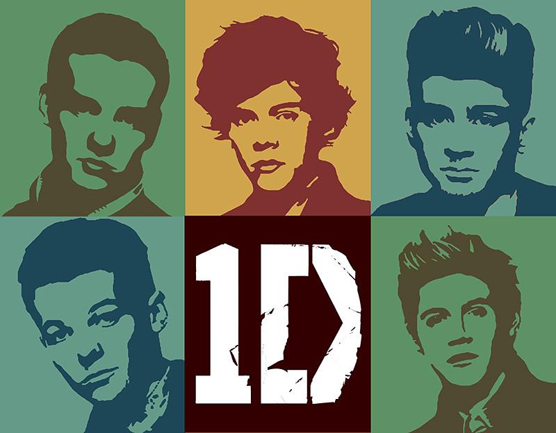 1D One Direction Toned Pop Art Digital Portrait