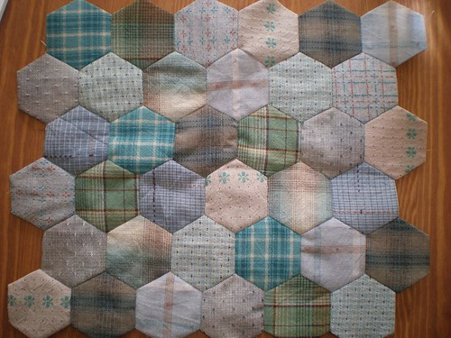 EPP Hexagons in Japanese Cotton
