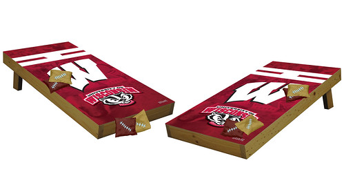 Wisconsin Badgers Premium Cornhole Boards