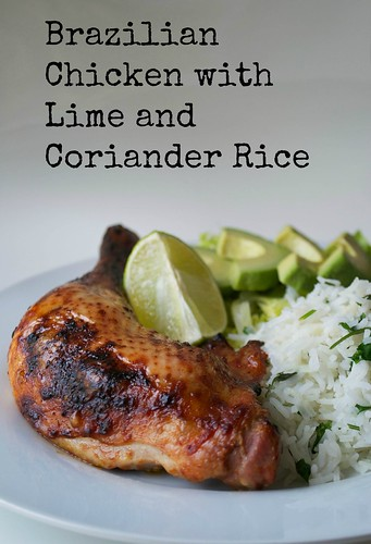 brazilian chicken with lime and coriander rice