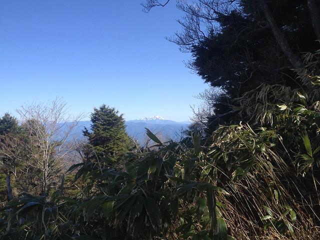 恵那山 登山道から御嶽山