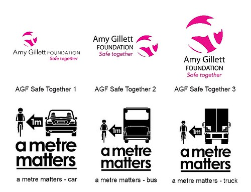 AGF and 'a metre matters' logos