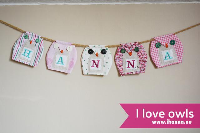 Fabric Owl Banner