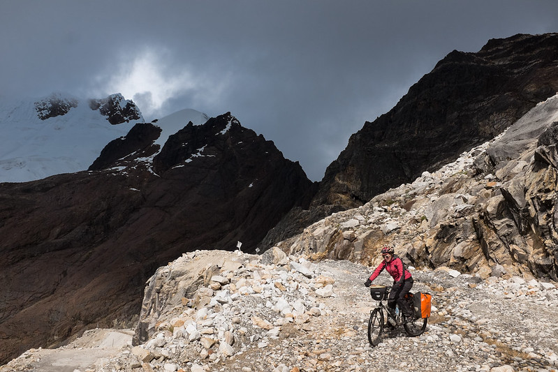 descending from the top of Punta Olympica, photo by Jukka Sallminen
