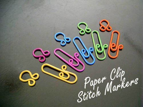 paperclip stitch markers