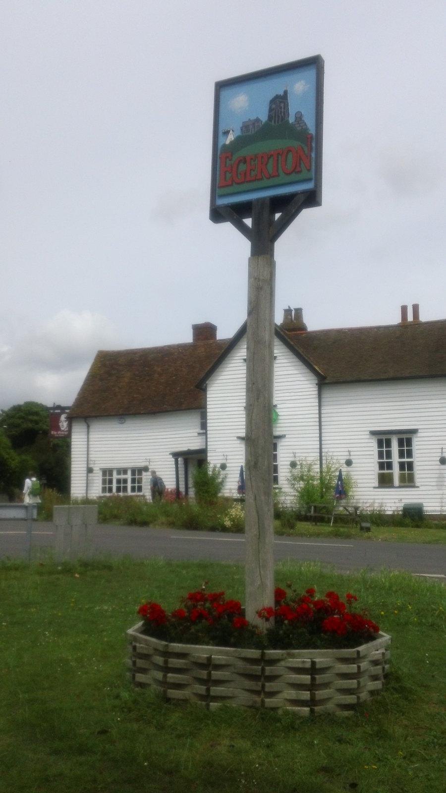 Egerton village last pub for lunch on the longer walk route