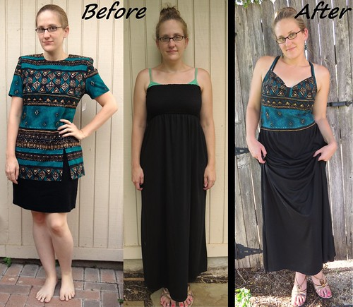 Tribal Maxi Dress - Before & After