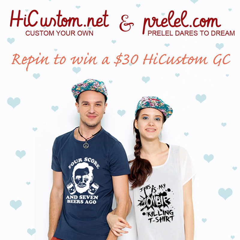 $30 HiCustom gift certificate giveaway on pinterest