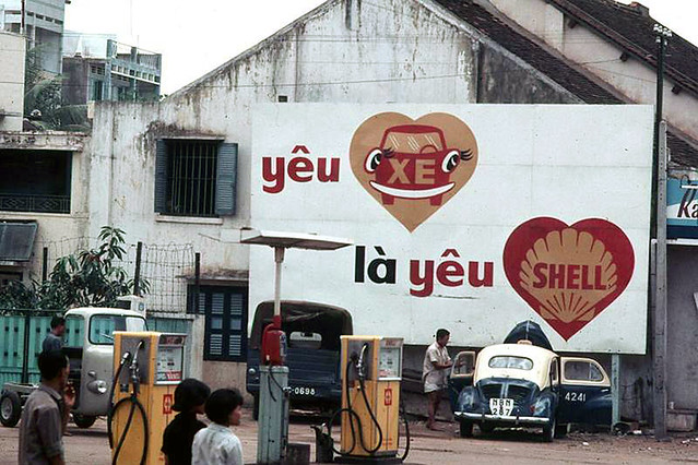 Saigon 1966-68 - Shell Gas Station - Photo by Daniel P. Cotts