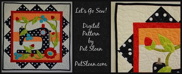 pat sloan lets go sew digital banner