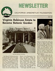 Newsletter, California Arboretum Foundation