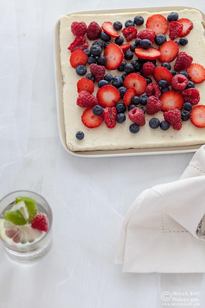 Ricotta Lemon Slice with Berries (0041)