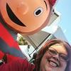 Selfie with #brutus at #theosu #4milerun #cheerleader