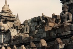 Borobudur, buddhist city/temple complex, north west of Yogyakarta,  Java