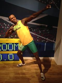 Usain Bolt figure at Madame Tussauds