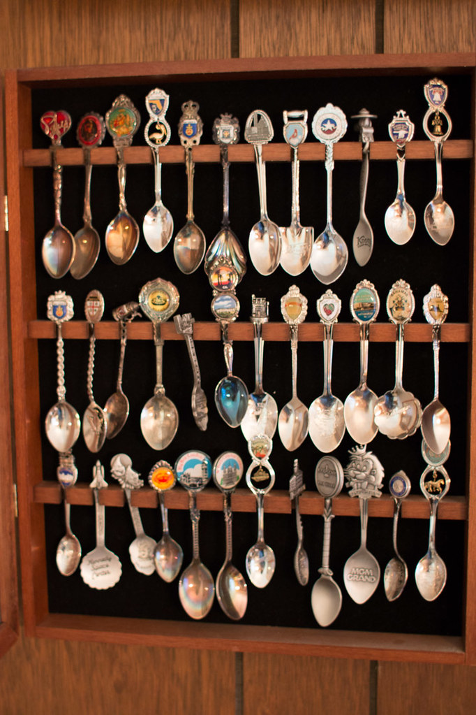Old spoon rack displays